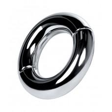 Серебристый магнитный утяжелитель на мошонку Metal
