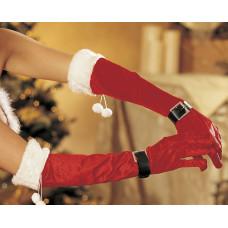 Бархатные новогодние перчатки
