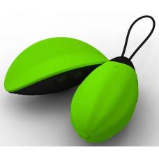 Зелёная вибродынька Bibi, реагирующая на наклоны пульта